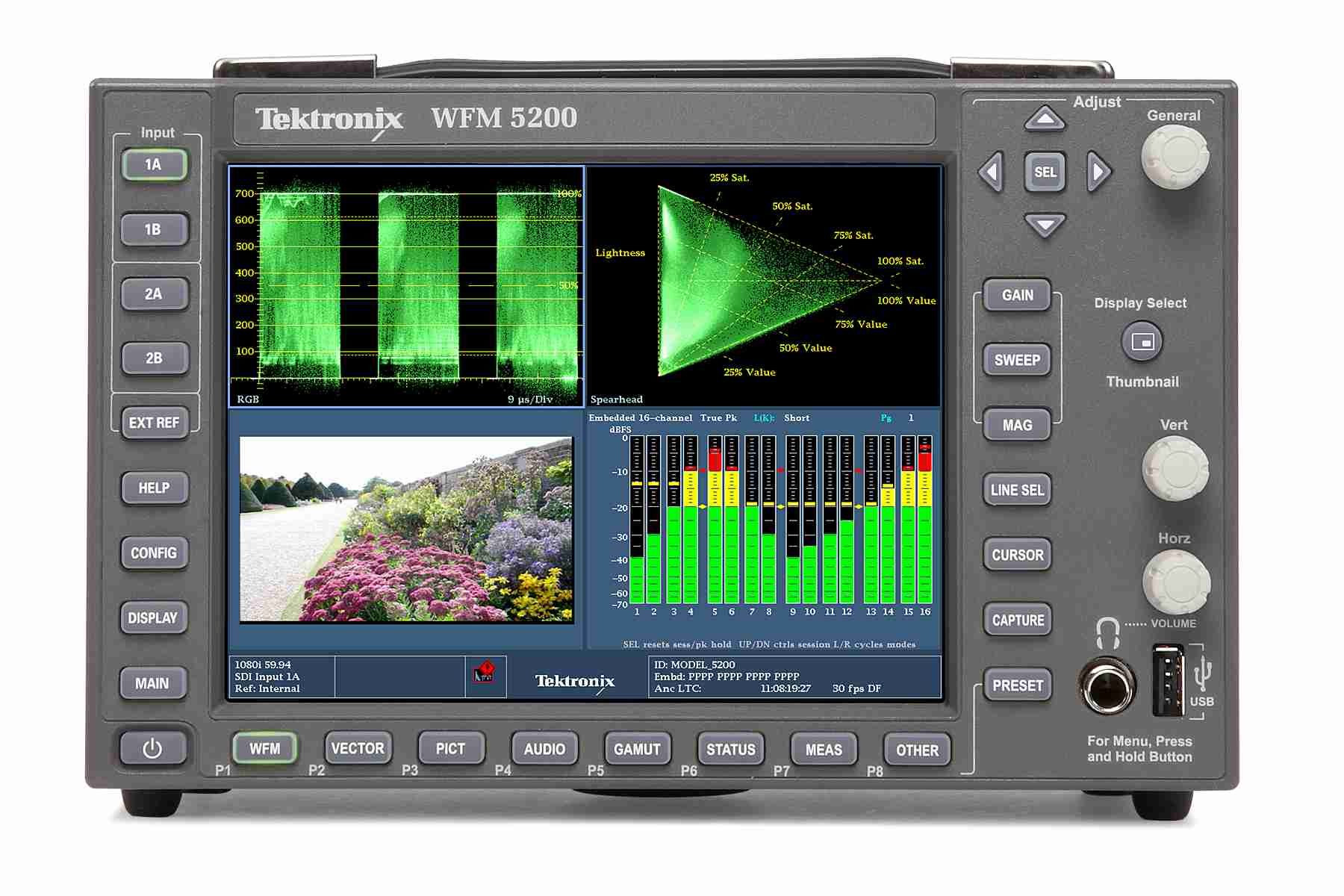Tektronix WFM / WVR5000 Series Waveform Monitor