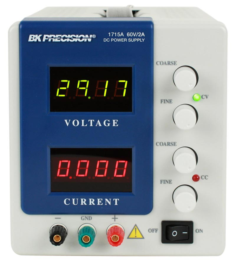 BK Precision 1715A  4 Digit Display DC Power Supply (0-60V, 0-2A)