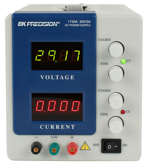 BK Precision 1735A  4 Digit Display DC Power Supply (0-30V, 0-3A)