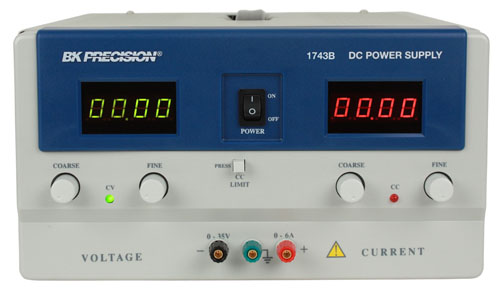 BK Precision 1743B 4 Digit Display DC Power Supply (0-35V, 0-6A)
