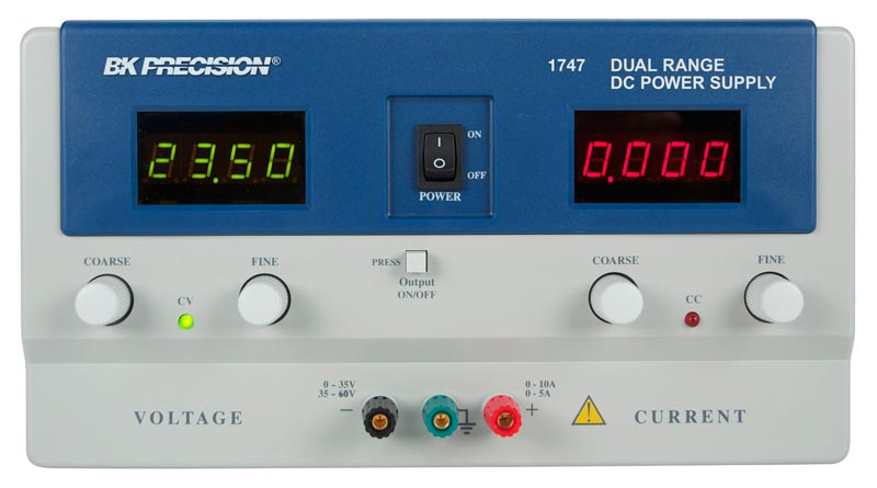 BK Precision 1747 Dual Range DC Power Supply (0-35V, 0-10A or 0-60V, 0-5A)