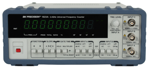 BK Precision 1823A 2.4 GHz Universal Frequency Counter with Ratio Function