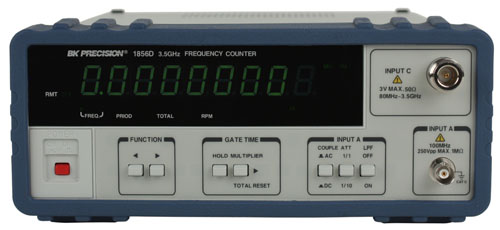 BK Precision 1856D 3.5 GHz Multifunction Counter (Frequency, Period, Totalize)