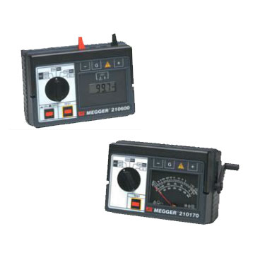 Megger 210170 and 210600 Extended Range Insulation Resistance Testers