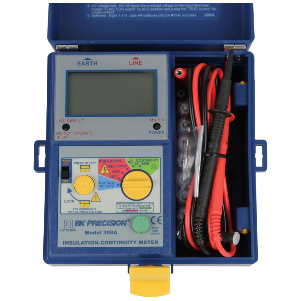 BK Precision 308A Digital Insulation & Continuity Meter