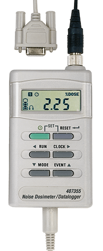 Extech 407355 Noise Dosimeter/Datalogger with PC Interface