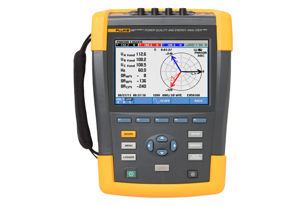 Fluke 437 Series II 400 Hz Power Quality and Energy Analyzer