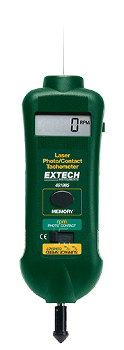 Extech 461995 Combination Contact/Laser Photo Tachometer