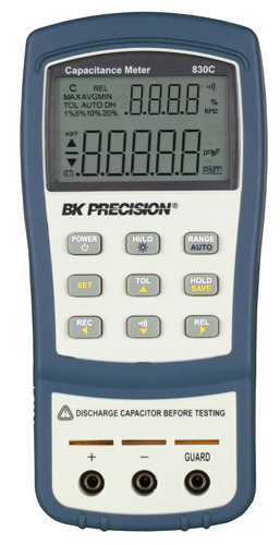 BK Precision 830C and 890C Dual Display Handheld Capacitance Meters