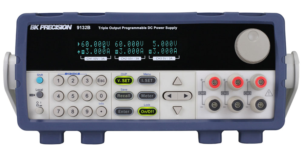 BK Precision 9130B Series Triple Output Programmable DC Power Supplies