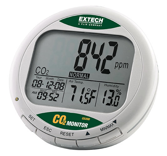 Extech CO200 Desktop Indoor Air Quality CO2