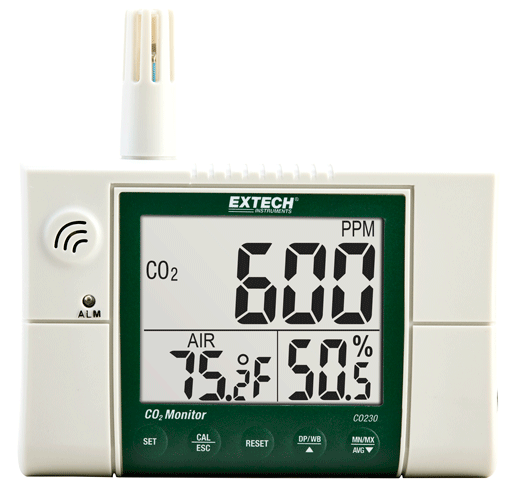 Extech CO230 Indoor Air Quality, Carbon Dioxide (CO2) Monitor