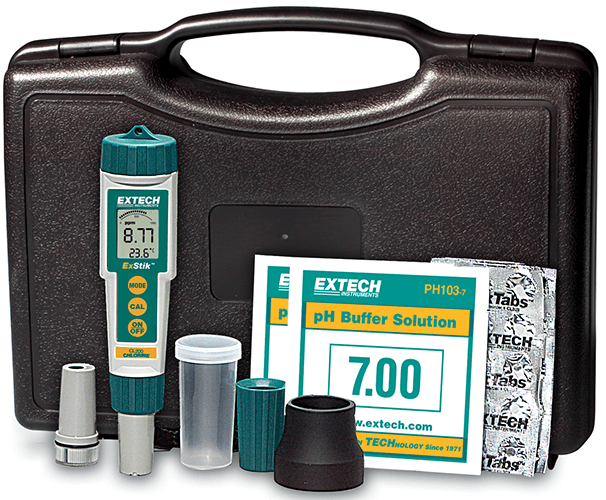 Extech EX900 ExStik 4-in-1 Chlorine, pH, ORP and Temperature Kit