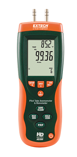 Extech HD700 Differential Pressure Manometer (2psi)