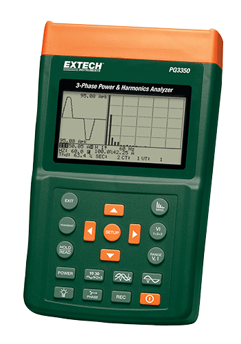 Extech PQ3350 3-Phase Power & Harmonics Analyzer