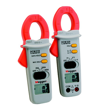 Megger DCM310 and DCM320 Digital Clampmeters