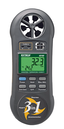 Extech 45160 3-in-1 Humidity, Temperature and Airflow meter