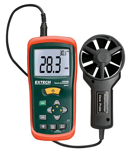 Extech AN100 CFM/CMM Mini Thermo-Anemometer