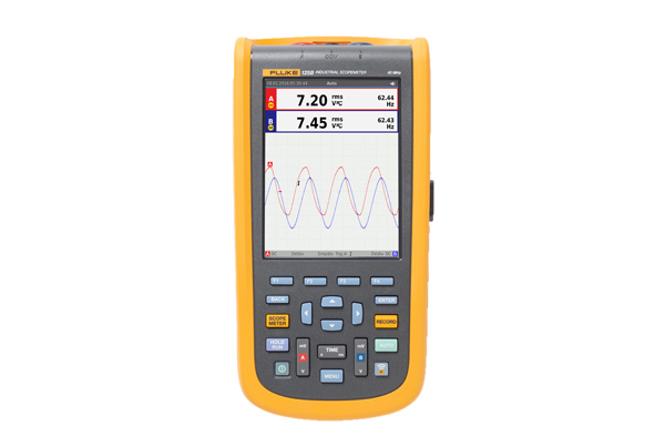 Fluke 120B Series Industrial ScopeMeter Hand-Held Oscilloscopes
